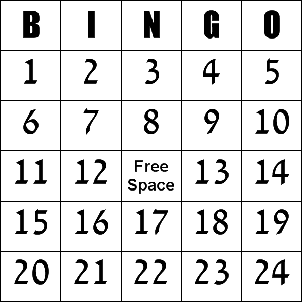 Universal image for free printable bingo cards with numbers