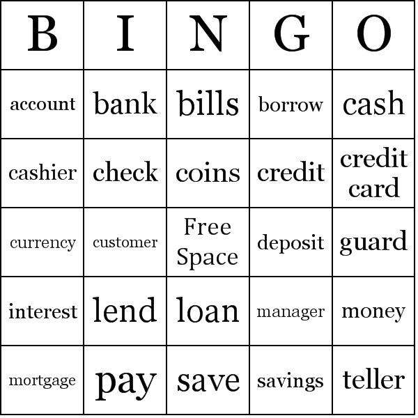 picture about Money Bingo Printable referred to as Lender Bingo Playing cards