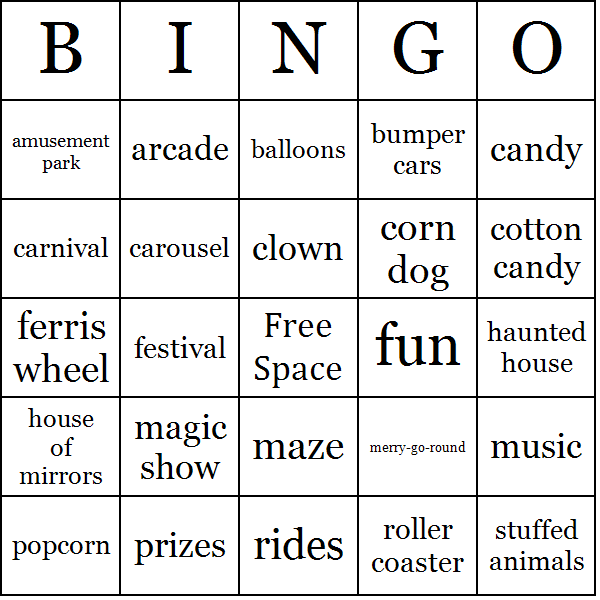 playing bingo in the classroom