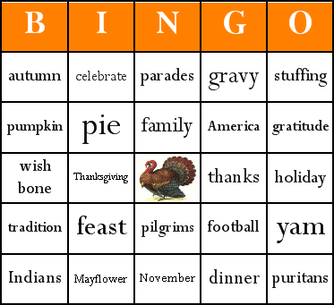 graphic relating to Thanksgiving Bingo Printable named Thanksgiving Bingo Playing cards